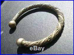 1 bracelet CELTE GAULOIS Ancien en Bronze TORQUE ARTISANAL (Cornouailles)