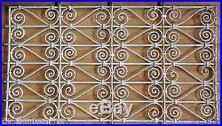 115cm Grille Fenetre Fer Forgé Ancien Maroc Antique Iron Window
