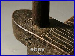 1950 2 Chaises De Chef Senoufo Tribal Ethnique Shabby-chic Brutalist Primitif