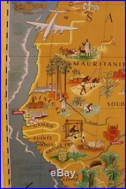 Affiche Ancienne Originale Credit Lyonnais Lucien Boucher Afrique Magreb Aof