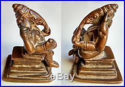 Ancien Ganesh en bronze Inde du Nord 17e superbe qualité