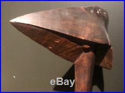 Ancien casse tete bec oiseau Kanak, Canaque Nouvelle Caledonia war club