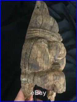 Ancien masque ou figure/poteau Kanak, Canaque Nouvelle Caledonie