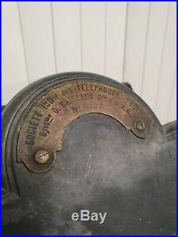 Ancien téléphone mural Bailleux de 1900