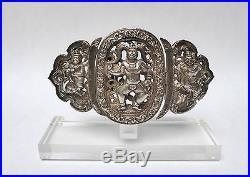 7412676fa6b9 Ancienne boucle de ceinture Argent Massif 19ème siècle BIRMANIE ...