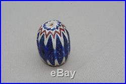 Ancienne perle de troc chevron Venise 1800/1900 afrique ethnique trade bead XL