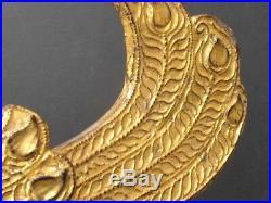 Antique Elémént de Temple Oiseau hansa en Bois doré de BIRMANIE