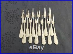 Argent Massif 12 Fourchettes Crustaces Ou Escargots Poincon Minerve