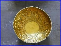 Argent Massif Et Vermeil Chine Chinese Export Silver Bowl