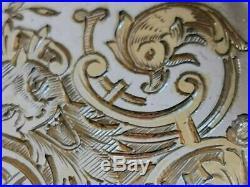 Argent Massif Vermeil Renaissance 11 Pelles A Glace Decor Dragons