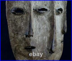 Art Africain Arts Premiers Arte Superbe Masque Lega à 3 Visages 28 Cms