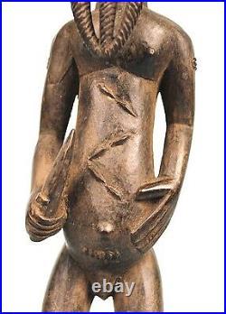 Art Africain Arts Premiers Ethnographique Statue Asie Usu Baoulé 40 Cms ++++