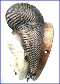 Art Africain Ethnique Tribal Premier African Mask Masque Punu 28 Cms