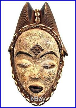 Art Africain Ethnographique Tribal Superbe Masque Okuyi Punu 21,5 Cms +++++