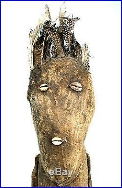 Art Africain Fétiche Kafigueledio Senoufo Soclé Région de Korhogo 83,5 Cms