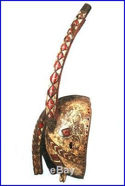 Art Africain Masque Coq Mossi Zoomorphic Headcrest Helmet Mask 57,5 Cms ++