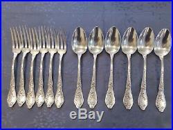 Art Nouveau Boulenger Chardons 6 Grands Couverts De Table Metal Argente