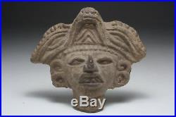 Art Précolombien Tête Zapotèque Mexique 600 900 après J. C