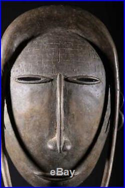 Art africain Masque Djimini de forgeron en bronze 1133