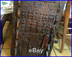 Art africain grande porte dogon en bois