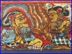 Boite à Lontars en Bois peint, BALI INDONÉSIE