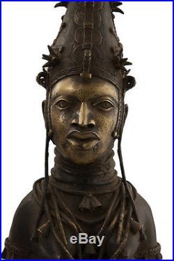 Bronze benin couple royal- Bini Edo-oba-nigeria -art africain -1220
