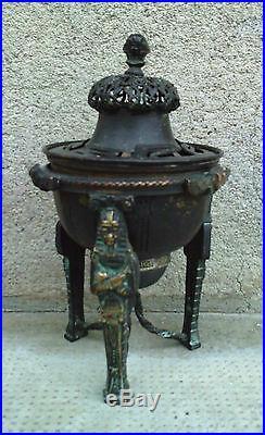Brûle parfum encensoir EMPIRE bronze napoléon momie pharaon Incense burner