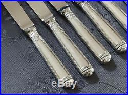 CHRISTOFLE MALMAISON 6 COUTEAUX FROMAGE DESSERT LAME INOX 19.5cm