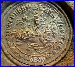 Carreau Renaissance En Terre Cuite Chevalier 16° S Ancient Medieval Tile