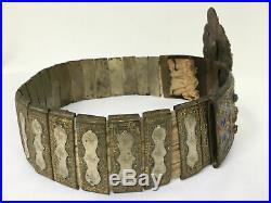 Ceinture Grecque Aigle Bicephale En Bronze Emaille Zonari Me Tin Corona E244