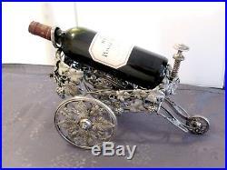 Christofle Chariot A Vin 1880 Bronze Argente Charles Christofle Art Nouveau