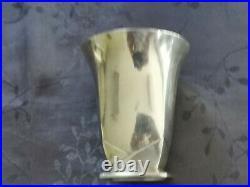 Christofle Gallia Sue Et Mare Tres Rare Timbale Metal Argente Art Deco