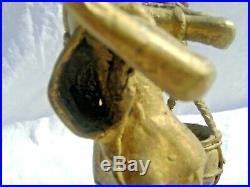 Cochinchine Indochine statuette ancienne en Bronze hauteur 19 cm