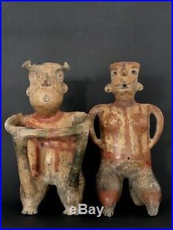 Couple Zacatecas Mexique, Art Précolombien, Precolombian Art, 100av 300 ap. JC