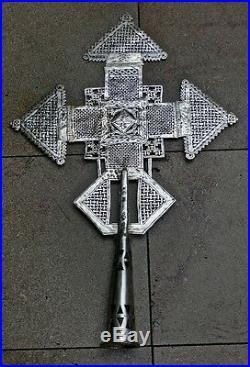 Croix Copte De Procession Ethiopie Cross Ethiopia