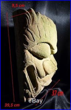 Epoque Ming Chine Ancienne Tête en Pierre Sculptée Visage Antiquité Chinoise