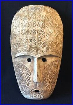 Grand Masque Timor Indonésie vers 1970 à patine 59 cm poids 5KG décoration
