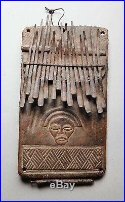 Lamellophone, Mbira, Sanza, Lamellophone SANZA Tshokwe Congo Art Premier Angola