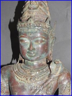 Magnifique statue de Shiva en bronze indouisme bouddhisme antique