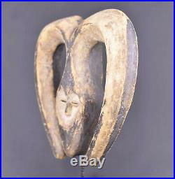 Masque coeur africain Kwele du Gabon 8-2013-016