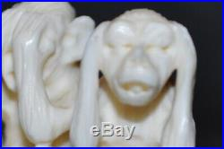 Netsuké Groupe de trois singes Début XXème