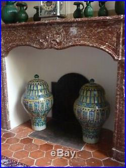 Paire Superbe grandes Khabia anciennes Maroc XIXe