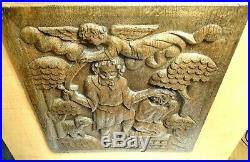 Panneau Relief En Chene Le Sacrifice D'abraham 17° S. Renaissance Oak Panel