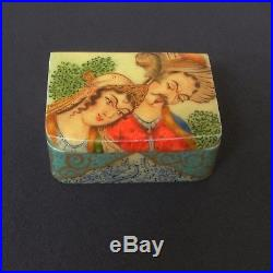 Persian Miniature Box Safavid Qalamdan OS BONE Qajar / Certificat+Provenance