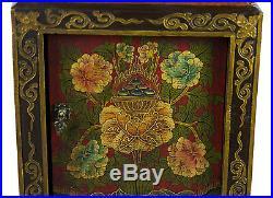 Petite console -Chevet-51X39cm-Meuble tibetain peint à la main-Joyau -4233