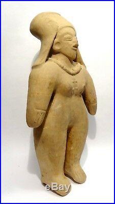 Precolombien Jama Coaque Ecuador 500bc/500ad Pre-columbian Standing Woman