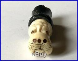 Rare Art Inuit Figurine Zoo anthropomorphique Morse Homme Circa 1930 Art Premier