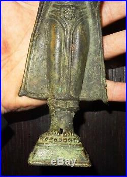 Rare Bouddha En Bronze- Thailand 19° S Ancient Bronze Buddha Statue 1800 Ad