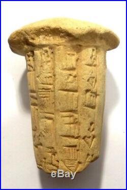 Rare Clou De Fondation Cuneiforme Mesopotamia 3000 Bc Sumerian Cuneiform Cone