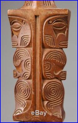 Rare massue Maori ou casse tête de Nouvelle Zélande jolie patine 67 Cm